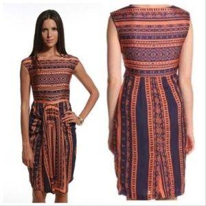 Eva Franco Akela Drape Front Shift Dress Odessa 10